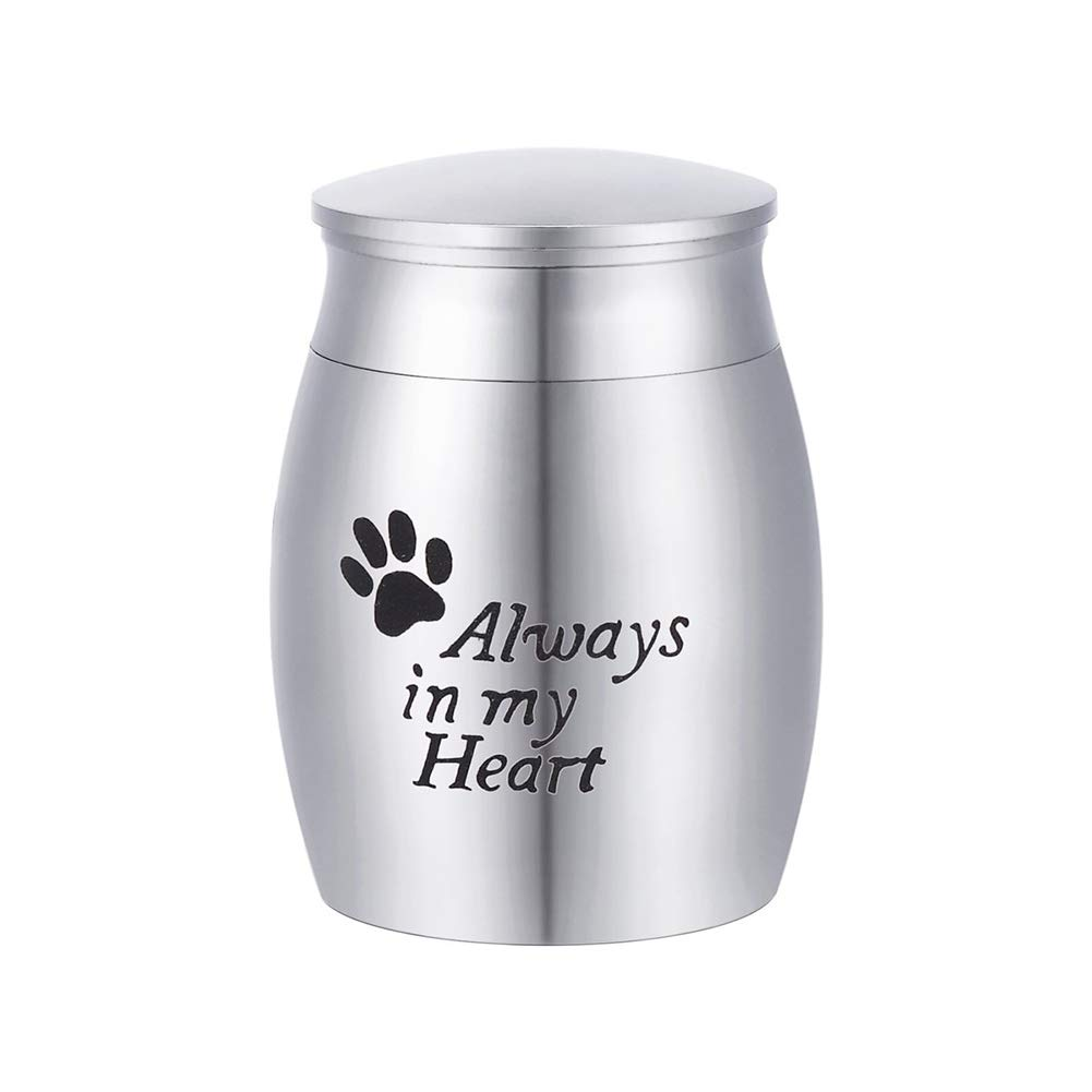 Always Faithful Pet Urn Memorial Dog or Cat Ashes Keepsake for Pet's cat Dog's Ashes 15×25mm A Perfect Resting Place
