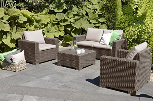 Allibert by keter california seater rattan sofa outdoor - Salon de jardin allibert hawaii lounge set ...