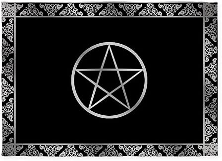 CafePress Silver Wiccan Pentacle 5'X7'Area Rug Decorative Area Rug