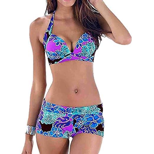 5a89ea2e00c5b Amazon.com: Women Summer Swimsuit 2019 Fashion Bathing Bikini Tankini  Swimwear Monokini Beachwear Dot Print Bikini Plus Size S-3XL: Clothing