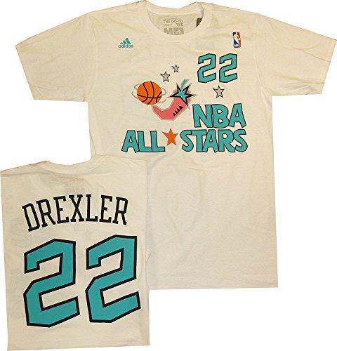Adidas All Star Shirt - Portland Trail Blazers Clyde Drexler 1996 All Star Adidas White Shirt (Small)
