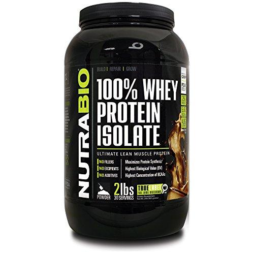NutraBio 100% Whey Protein Isolate - £ 2 chocolat - sans soja, concentré de lactosérum NO, NO acides aminés Smasher seulement 100% Pure WPI.