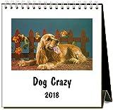 Found Image 2018 Easel Desk Calendar, Press Dog Crazy