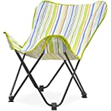 Urban Shop Cabana Stripes Butterfly Chair, Lime, One Size