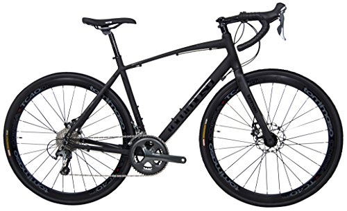 Tommaso Illimitate Shimano Tiagra Gravel Adventure Bike With Disc Brakes And Carbon Fork Perfect For Road Or Dirt Trail Touring, Matte Black - Extra Large