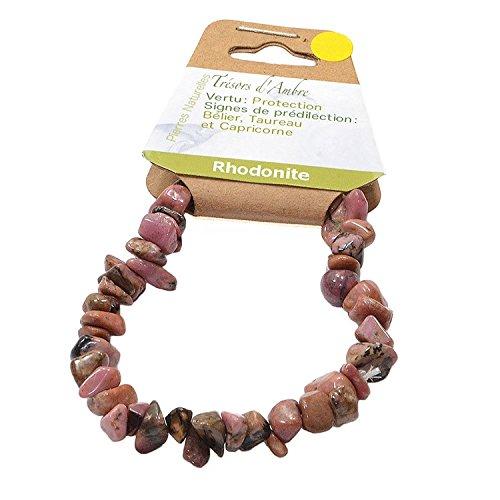 Bracelet Baroque en Rhodonite - Pierre Naturelle - Lithothérapie Reiki - Protection