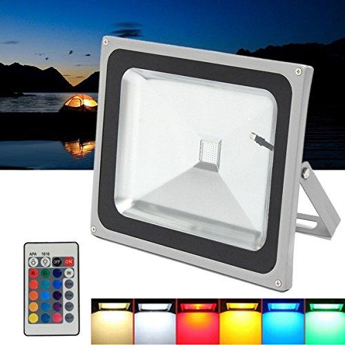 JCHUNL 50W RGB LED-Fernflutlicht wasserdichte im Freiengarten-Fahrstraße-Sicherheits-Lampe AC85-265V New Hot