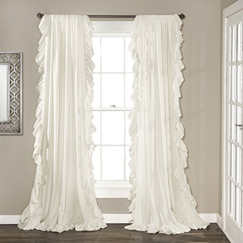 - Lush Decor Reyna Window Curtains Panel Set for Living Room, Dining Room, Bedroom (Pair), 95