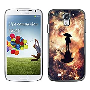 // PHONE CASE GIFT // Duro Estuche protector PC Cáscara Plástico Carcasa Funda Hard Protective Case for Samsung Galaxy S4 / Reflexión Galaxy /