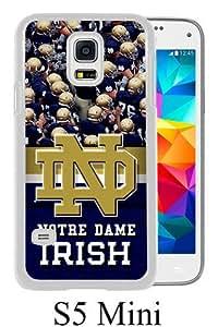 Notre Dame Irish White Personalized Photo Custom Samsung Galaxy S5 Mini Cover Case