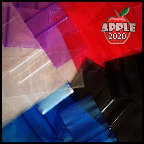 Small Plastic Recyclable Bags 100 2020 Color Apple Mini Ziplock Baggie Colored Mix 2