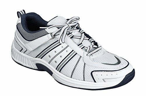 Orthofeet Monterey Bay Comfort Diabetic Wide Arthritis Orthotic Men's Sneakers Velcro White Synthetic 9.5 W US by Orthofeet