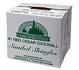 """Western Red Cedar 18"""" R&R Primed Sanded Sidewall"""