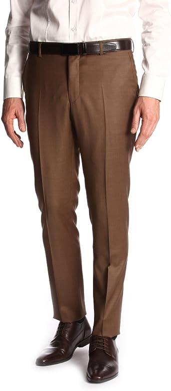 devred – Pantalón para hombre Serge Pure lana Marrón marrón ...