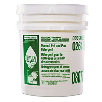 Amazon.com: Dawn® Manual Pot & Pan Dish Detergent, Lemon Scent, Liquid, 5 Gallon Pail: Industrial & Scientific