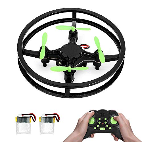 Nano Drone, MAKETHEONE Super Stable RC Mini Racing Drone 4CH 2.4GHz 6-Axis Remote Control Quadcopter UFO Helicopter RTF with Headless Mode Flash LED & 2 Bonus Batteries