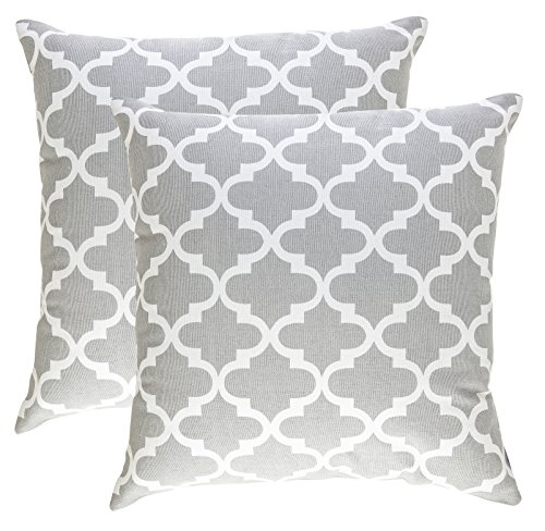 TreeWool,  Throw Pillow Covers Trellis Accent in Cotton Canv