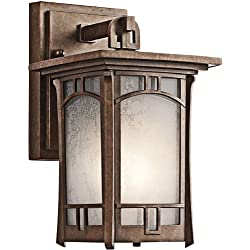 Kichler 49449AGZ Soria Outdoor Wall 1-Light, Aged Bronze