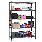 LANGRIA 5 Tier Garage Shelving Shelving Unit, Storage Rack Garage Shelf Heavy Duty Metal Shelves, Black