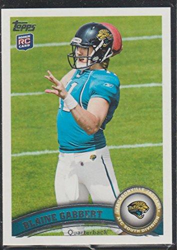 - 2011 Topps Blaine Gabbert Jaguars Rookie Football Card #160