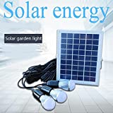 JIN One Pair Of Three Solar Street Lights Outdoor Wall Lamp Super Bright 5w Led Lawn Lamp Home Garden Lights Indoor Lights