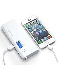 50000 mAh Dual USB Banco de alimentación externa cargador portátil LCD LED para teléfono celular nosotros