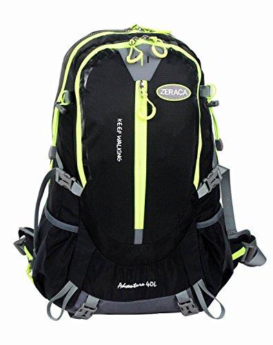 Zeraca 40L Hiking Camping Trekking Mountaineering Backpack (Black)