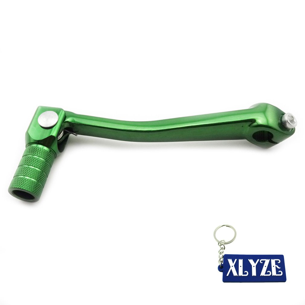 XLYZE Green Folding Gear Shifter Lever For 50cc 70cc 90cc 110cc 125cc 140cc 150cc 160cc Chinese Pit Dirt Bike KLX110