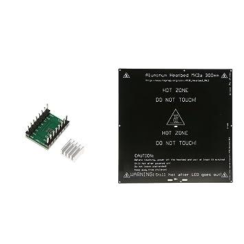 H HILABEE Impresora 3D PCB Aluminio Placa De Cama con Calefacción ...