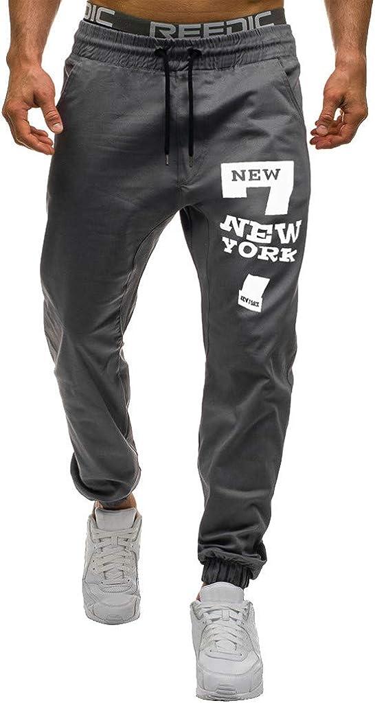 Mens Pants,Men s Sweatpants Drawstring Trousers Long Pants Casual Baggy Jogger
