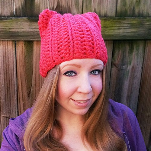 Crochet Pink Pussyhat for Women's March