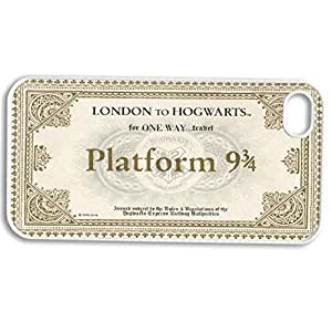 diy zhengHarry Potter Ticket London To Hogwarts - white Hard Cover Case for iphone 5/5s case