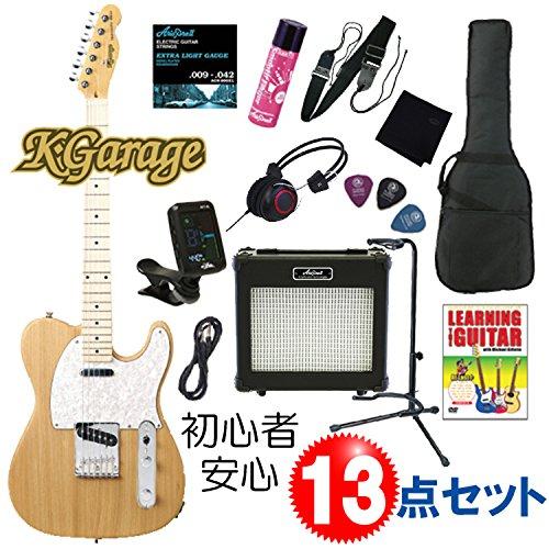 大人気 【初心者のための入門13点セット】K.Garage KTL-210/ASH NAT/ B00N1VJPHE アッシュボディのテレキャスター タイプ ナチュラル(艶なし) / エレキギター B00N1VJPHE, NEWING:f4f1c098 --- suprjadki.eu