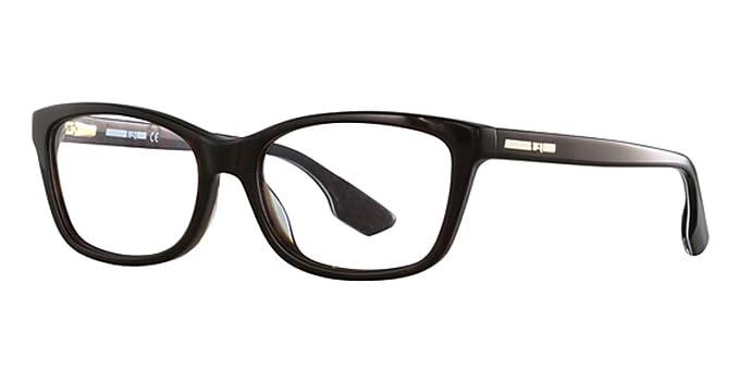 b97d1fca5e4 Eyeglasses Alexander McQueen MQ 0045 O- 003 BLUE   at Amazon Women s ...