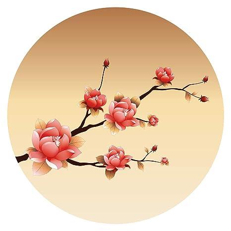 Pegatina de pared Salón Asia Ramo con flores de cerezo en un diseño detallado Asia Deco