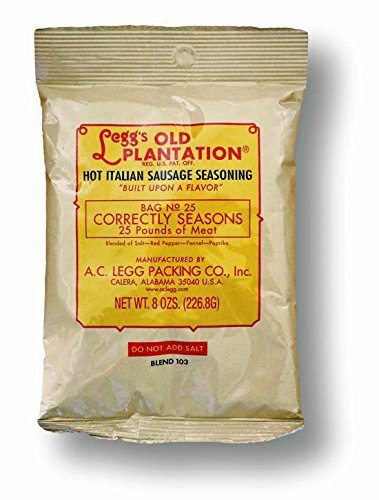 (A.C. Legg Hot Italian Sausage Seasoning)