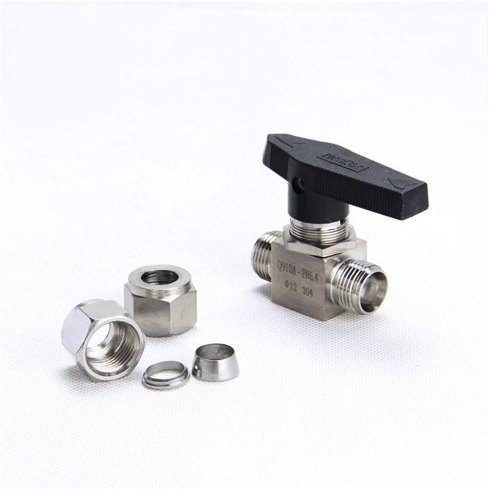 NO-LOGO SUOFEILAIMU-Valve Valve Stainless Steel 304 Mini Ball Valve Straight in Panel Ball Valve Specification : 6mm to 6mm