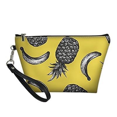 a36f2f0198e4 Coloranimal PU Leather Trapezoid Toiletry Bag Cute Banana Pattern ...