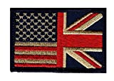 union jack patch - Hook USA UK British Flag Subdued Tactical Morale Patch by Miltacusa