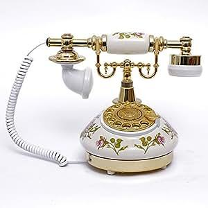 Pierre moda teléfono antiguo teléfono de disco / teléfono viejo tocadiscos / línea fija Continental dones pastorales creativos