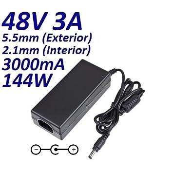 Cargador Corriente 48V 3A 3000mA 5.5mm 2.1mm 144W CCTV Video Vigilancia Camara Sistemas de Seguridad LED Acuario