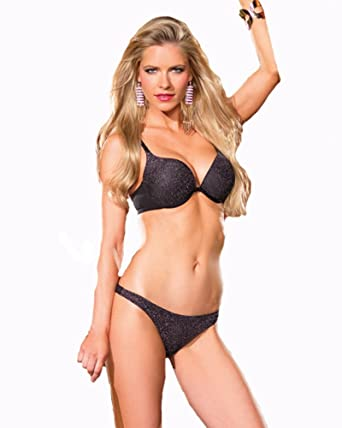 06840f287d0e2 Amazon.com  Be Wicked Women s Silver Sparkle Bra and Thong Set ...