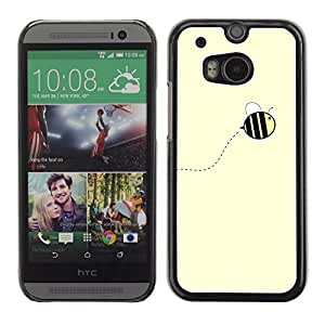LASTONE PHONE CASE / Carcasa Funda Prima Delgada SLIM Casa Carcasa Funda Case Bandera Cover Armor Shell para HTC One M8 / Cool Cute Yellow Bumblebee Summer
