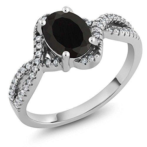 k Onyx Women's Ring 1.67 cttw (Size 5) ()