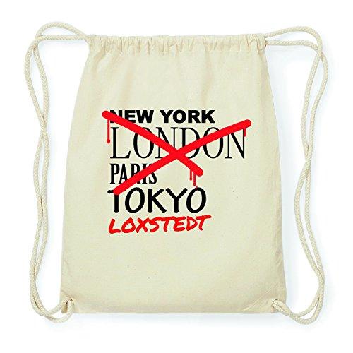 JOllify LOXSTEDT Hipster Turnbeutel Tasche Rucksack aus Baumwolle - Farbe: natur Design: Grafitti HXMFbmO0C