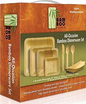 Bamboo Studio Party-Pack, Natural Color, Set of 4