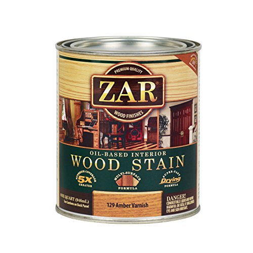 ZAR 12912 Wood Stain, QT, Amber Varnish