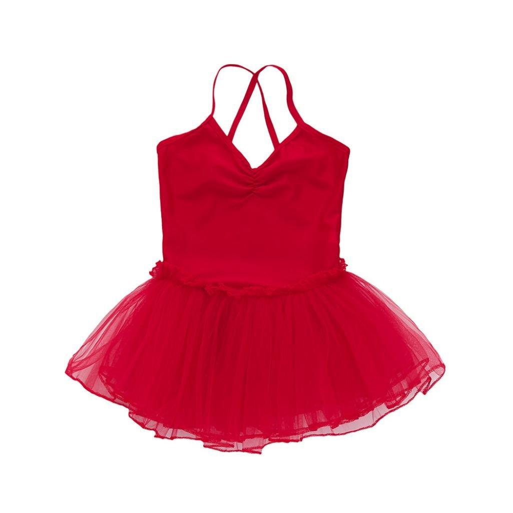Oyedens Bambino Ragazze Balletto Vestito Tutu Body Ballare La Ginnastica Cinghia Abiti Completi Dancewear Per 2-6 Anni