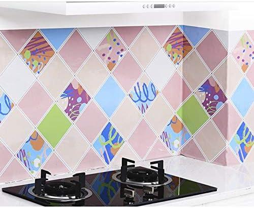 Azulejos Adhesivos Cocina 60X300Cm Cocina A Prueba De Aceite Gabinete De Estufas Con Autoadhesivo Impermeable Campana Extractora Papel Aluminio Azulejo Azulejos Pegatinas De Pared Papel Pintado: Amazon.es: Hogar