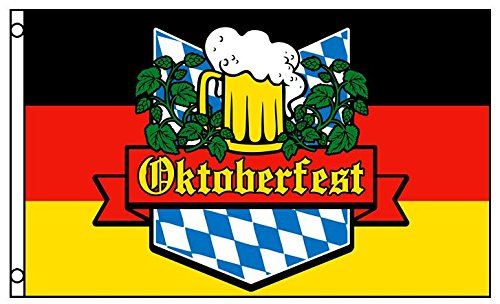 3x5 German Oktoberfest Flag Beer Glass Bavaria October Event Banner New -